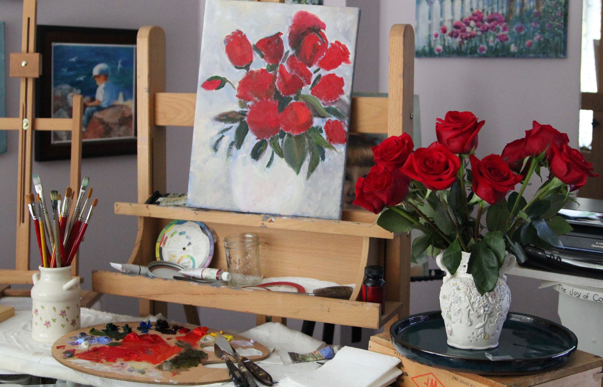 ReducedTheREAL Roses and ROSESAllaPrimaPainting